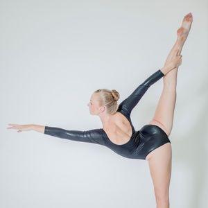 Shiny Gymnastics Long Sleeve Leotard / Bodysuit